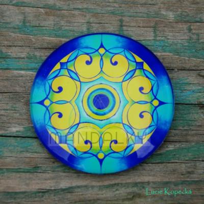 Mandala Paví - kulatá