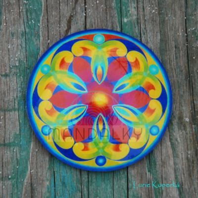 Mandala Andělé energie - kulatá