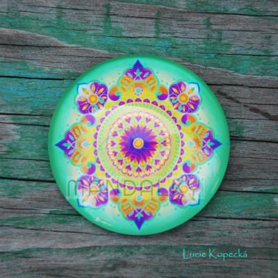 Mandala Uzdravování (zelená) - kulatá