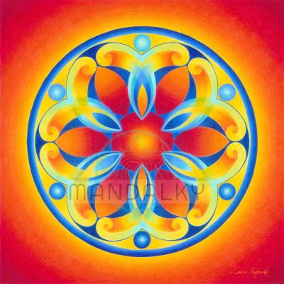 Mandala Andělé energie