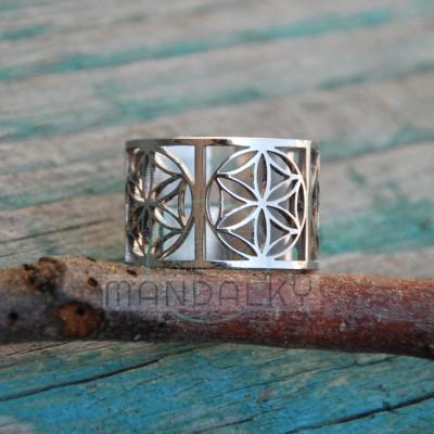 Moderní prsten Semeno života II
