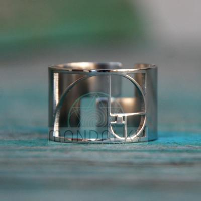 Moderní prsten Zlatý řez