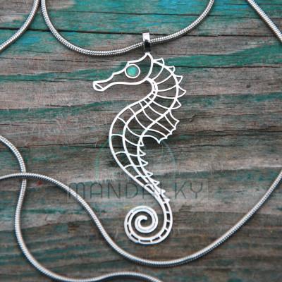 Přívěsek Mořský koník s etiopským opálem