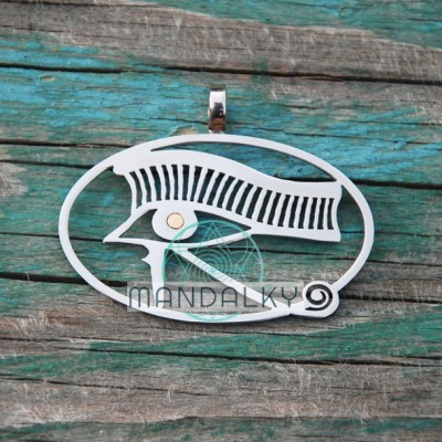 Přívěsek Horovo oko s neodymovým pozlaceným magnetem