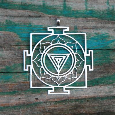 Přívěsek Kali jantra (45x50 mm)