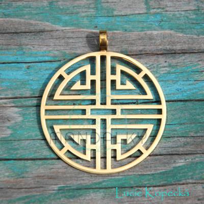 Přívěsek Lu - čínský symbol bohatství - TiN