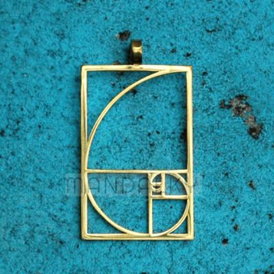 Přívěsek Zlatý řez - TiN