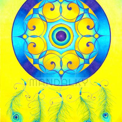 Mandala Lapač snů - Paví