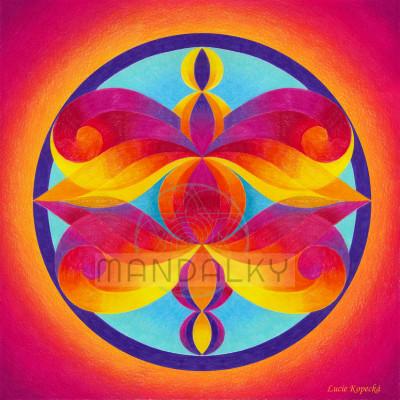 Mandala Andělé poznání