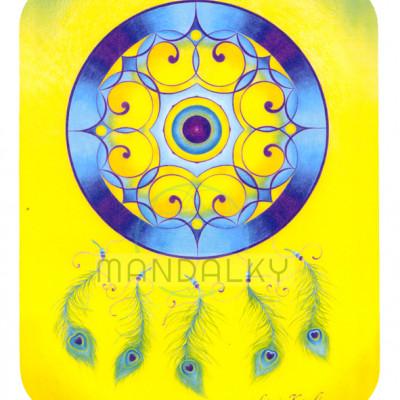 Podložka pod myš - mandala Paví