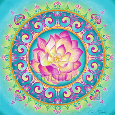 Mandala Rozkvétající lotos