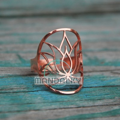 Prsten Lotos - měď