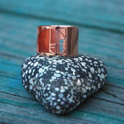Moderní prsten Zlatý řez - měděný
