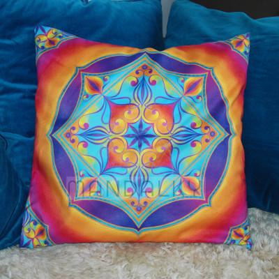 Velký polštář s mandalou Duchovní srdce