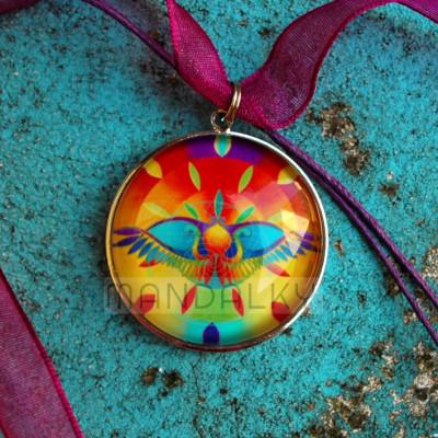 Přívěsek mandala Egyptský sluneční ochranný symbol
