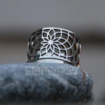 Moderní prsten Sluneční květ