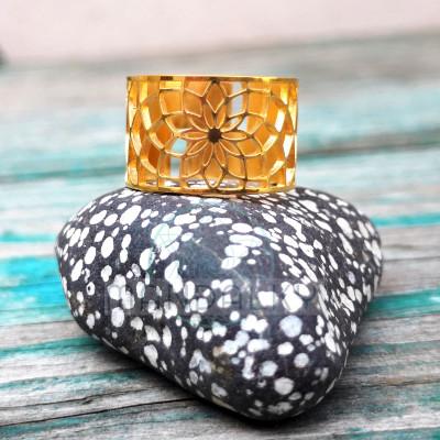 Moderní prsten Sluneční květ pozlacený