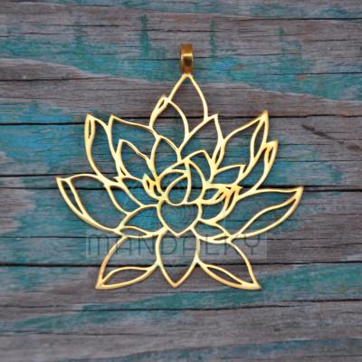 Přívěsek Rozkvétající lotos - TiN