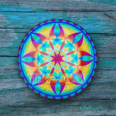 Mandala Indiánské léto - kulatá