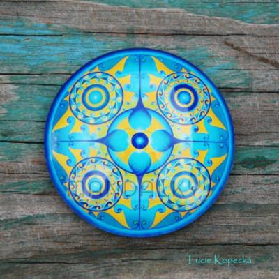 Mandala Archanděl Michael - kulatá