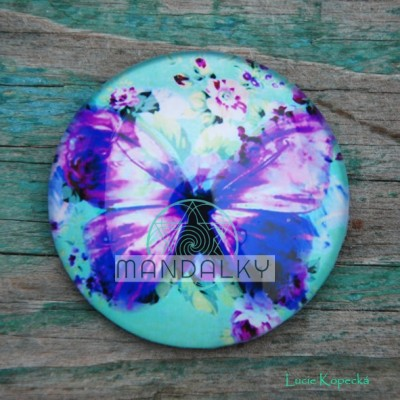 Mandala Motýlek - kulatá