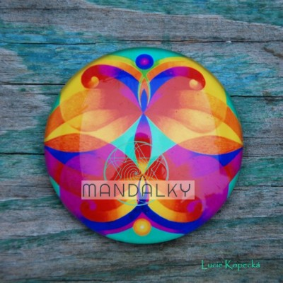 Mandala Andělé ochránci - kulatá