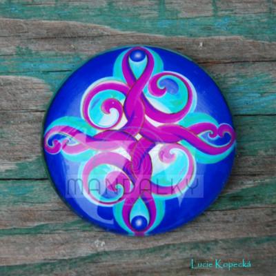 Mandala Znovuzrození - kulatá