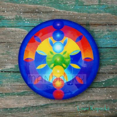 Mandala Čakrová - kulatá