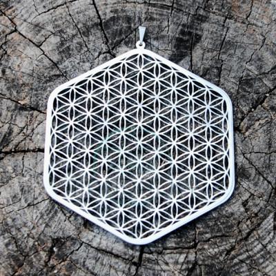 Přívěsek Květ života na okno - Hexagon