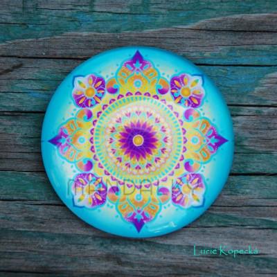 Mandala Uzdravování (modrá) - kulatá