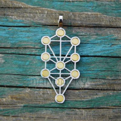 Přívěsek Sefirotický strom života s neodymovými magnety
