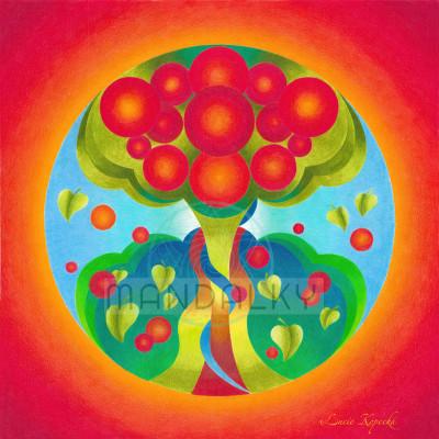 Mandala Strom života
