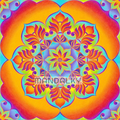Mandala Pouštní růže
