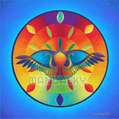 Mandala Egyptský sluneční ochranný symbol