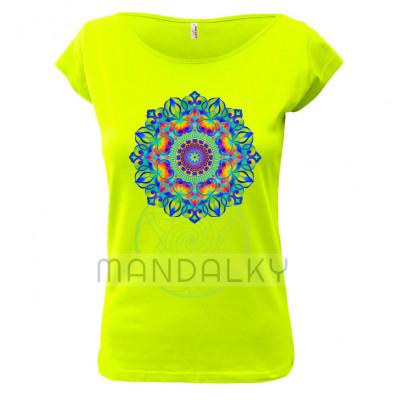 Zelené tričko s mandalou - Tajemná zahrada