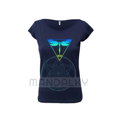 Tmavě modré tričko s Vážkou