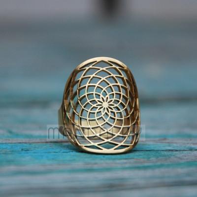 Prsten Sluneční květ TiN