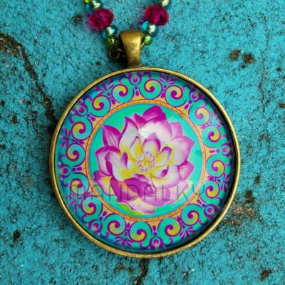 Přívěsek mandala Rozkvétající lotos