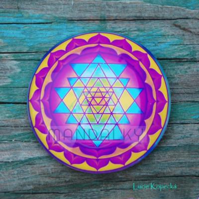Mandala Šrí jantra - kulatá