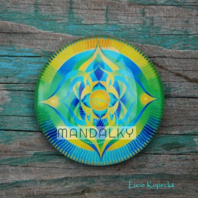 Mandala Bohyně Taygete - kulatá